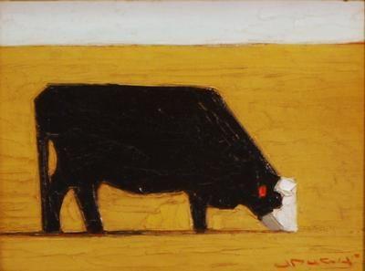 "Jeffery  Pugh - ""Big Ed"" Oil 6 x 8 in SOLD"