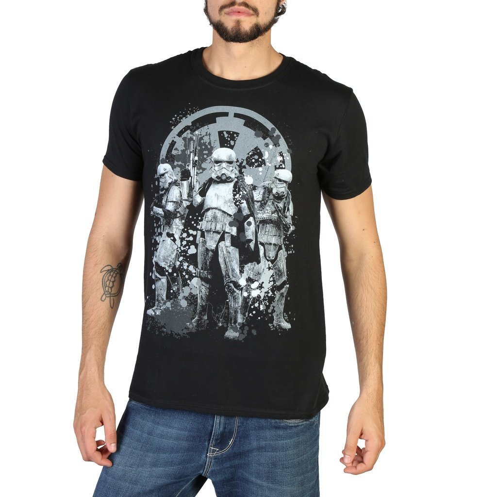 dfefce3066f Star Wars RDMTS020 Men Crewneck T-Shirt Black