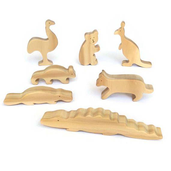 Australian Animals Set Wooden Toys Eco Friendly