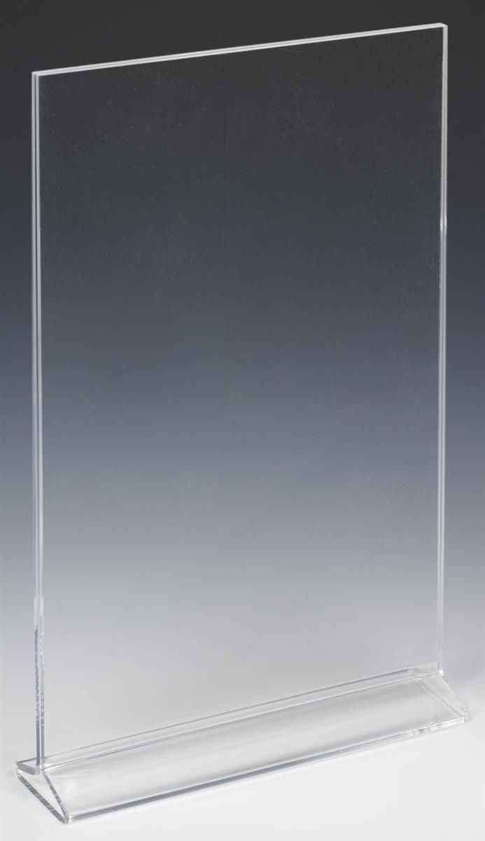 Workshop Series 11 X 17 Acrylic Sign Holder Tabletop Top Insert T Style Clear Acrylic Sign Sign Holder Tabletop Signs