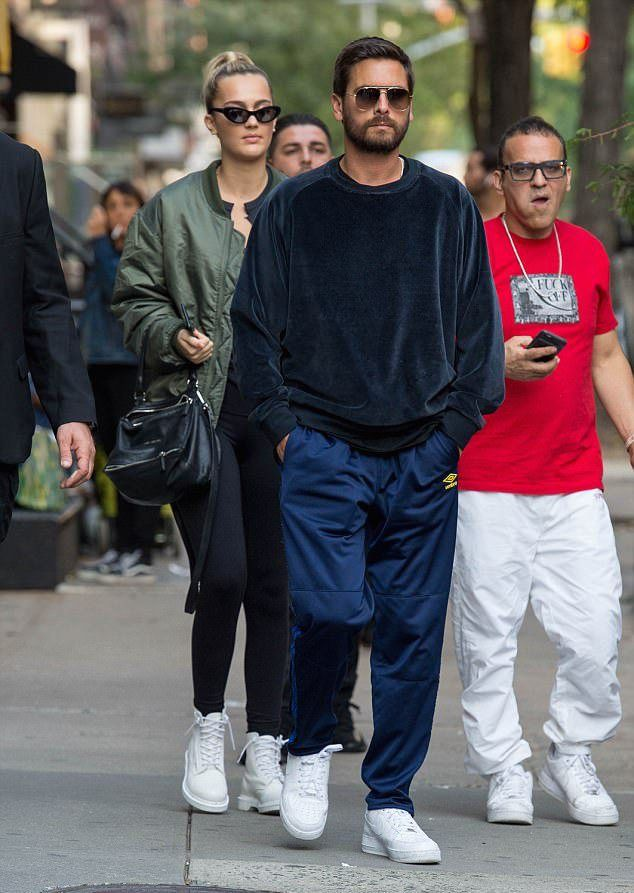 b2c1c8394eb0 Scott Disick Steps Out In NYC Wearing Umbro Track Pants And Nike Sneakers