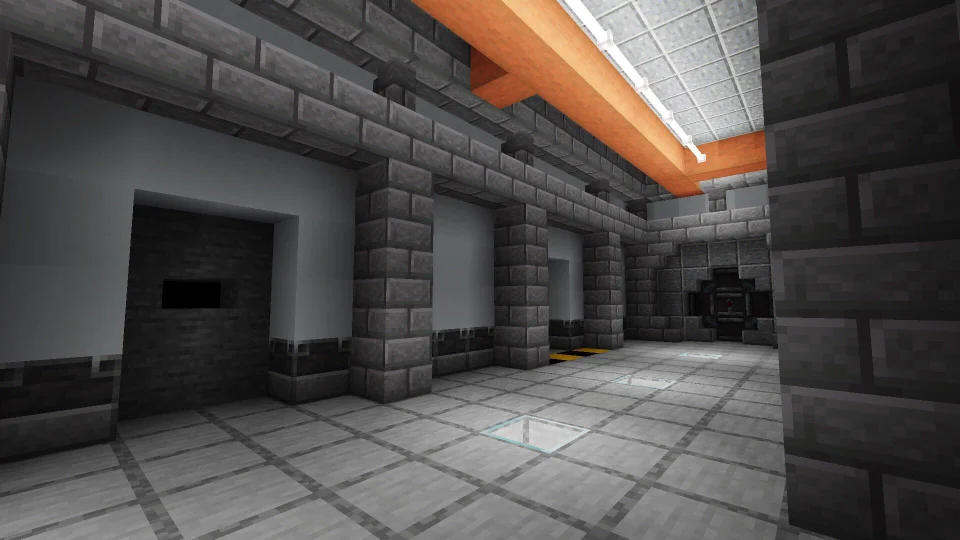 I M Building An Industrial Sci Fi Style Hallway For My Doomsday Bunker Base On A Survival Server Tip Us Minecraft Modern Minecraft Blueprints Doomsday Bunker