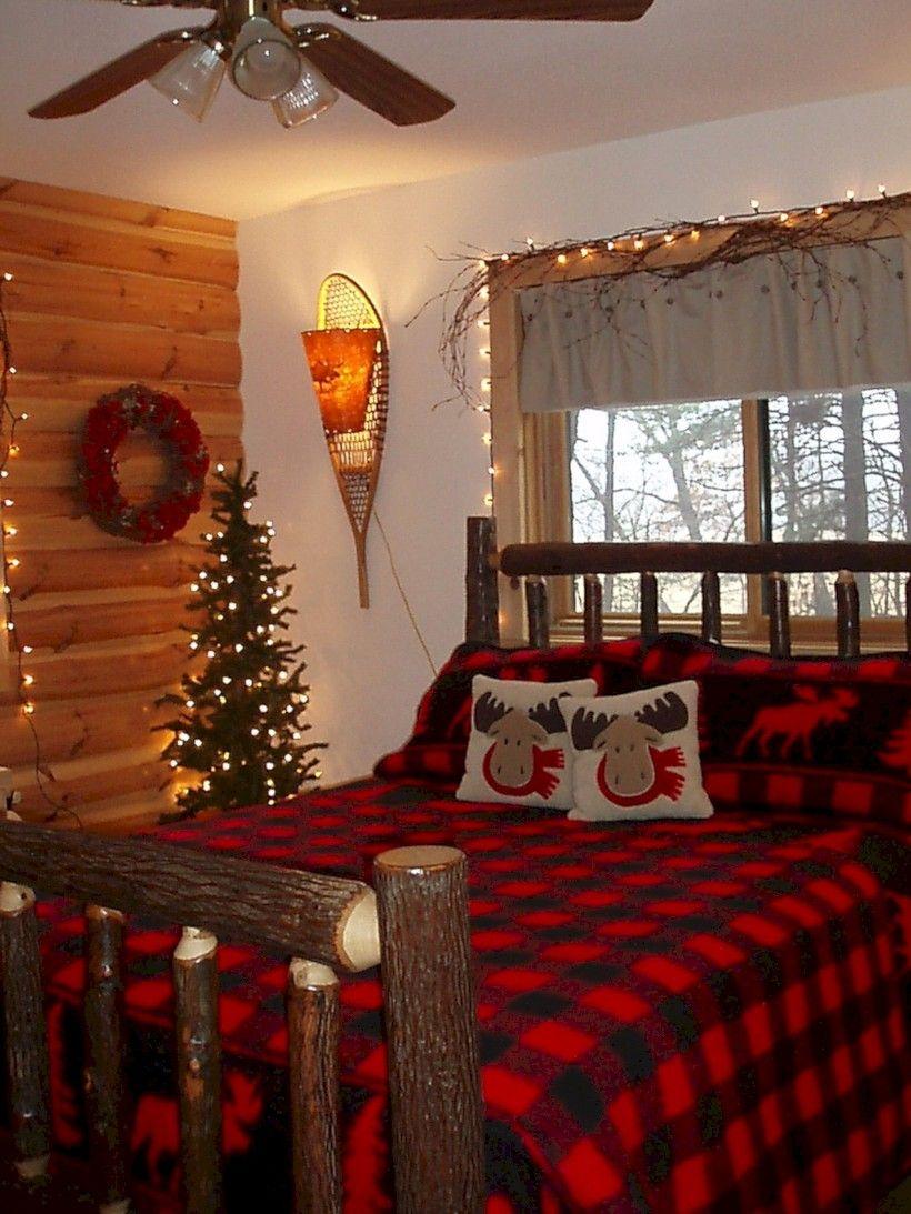 41 Adorable Interior Themed Christmas Bedroom Decoration Ideas