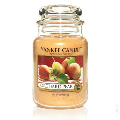 #YankeeCandle * #Orchard #Pear large Jar  #Birne  Reife, saftige Birnen, frisch vom Baum, mit Noten von Jasmine und Cognac.