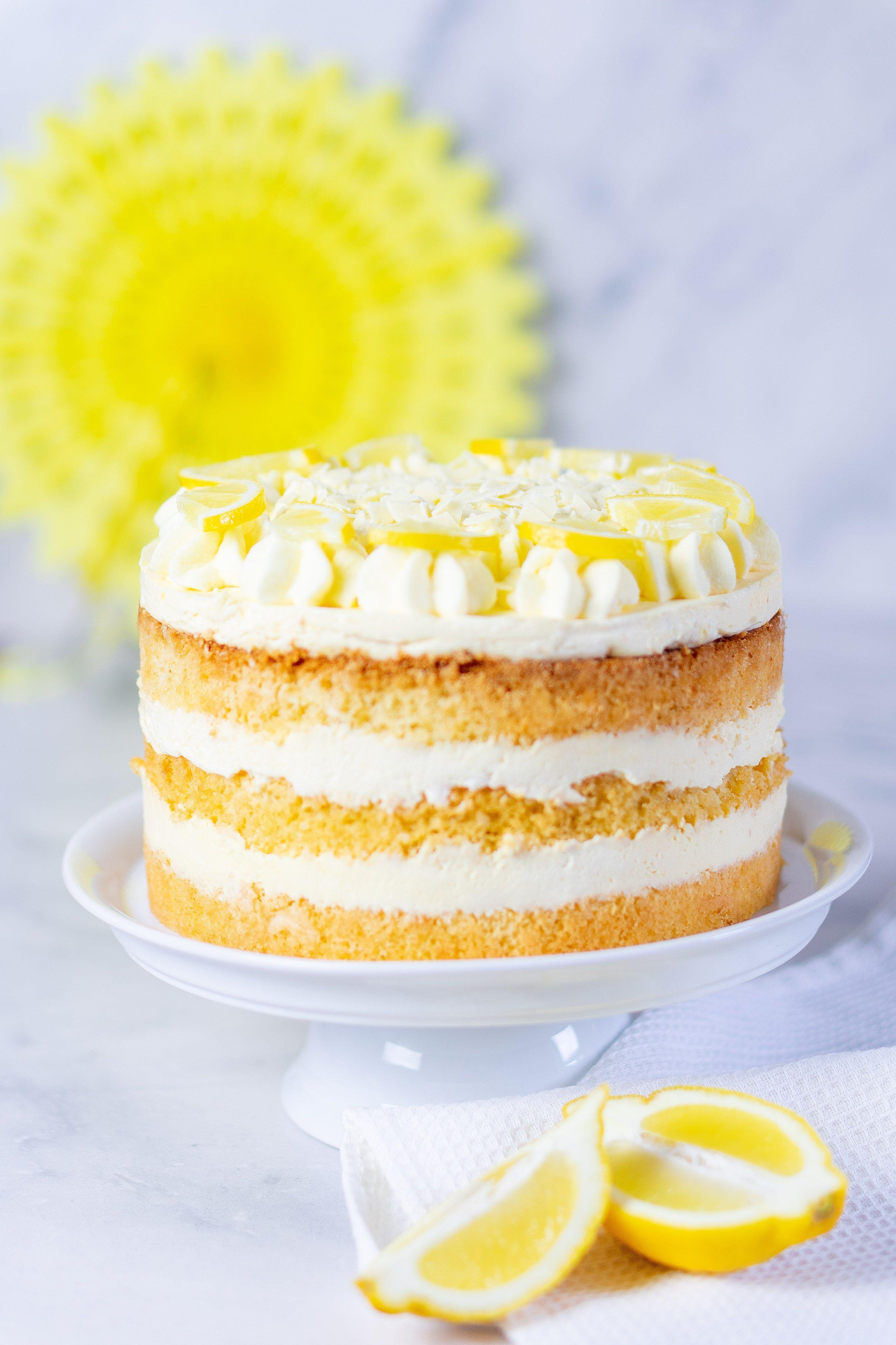 Zitronencreme-Torte Rezept #tortegeburtstag