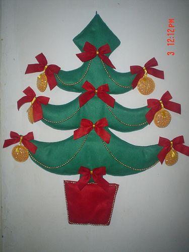 Árvore de Natal - Feltro -, via Flickr.