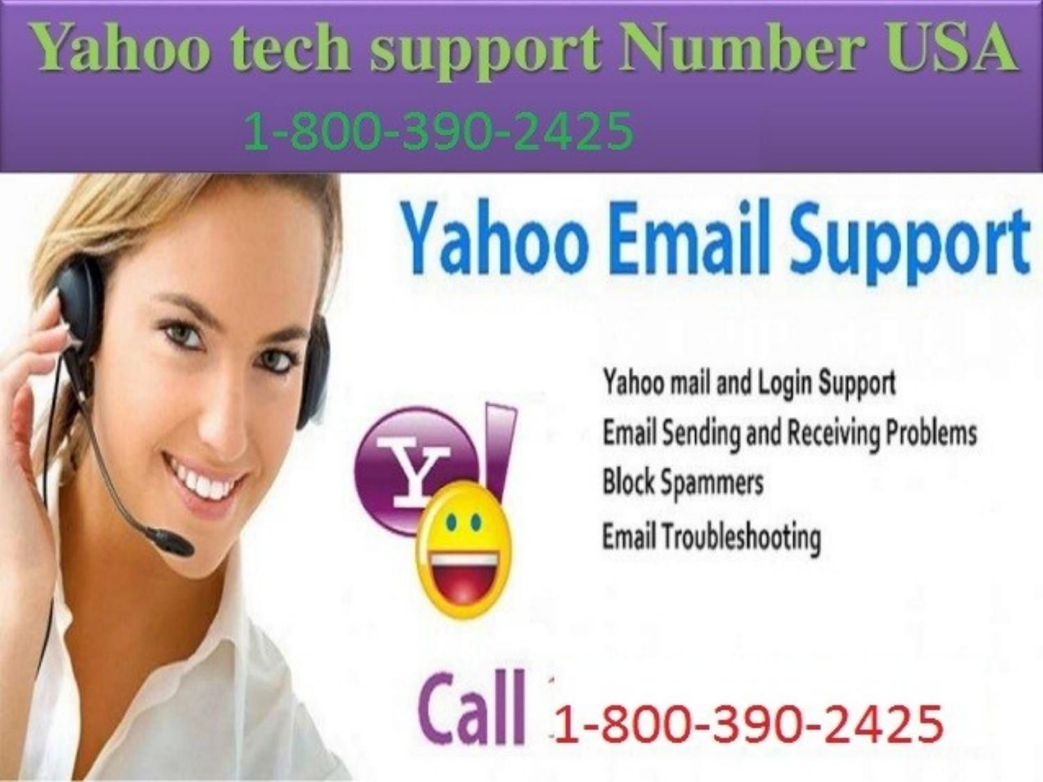 Yahoo customer care phone number 1 800 390 2425 Yahoo