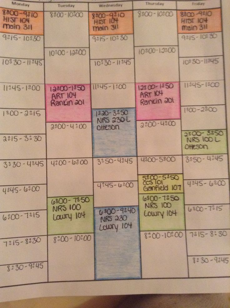 College Organizer / Planner \u2013 Free Printable Links! College