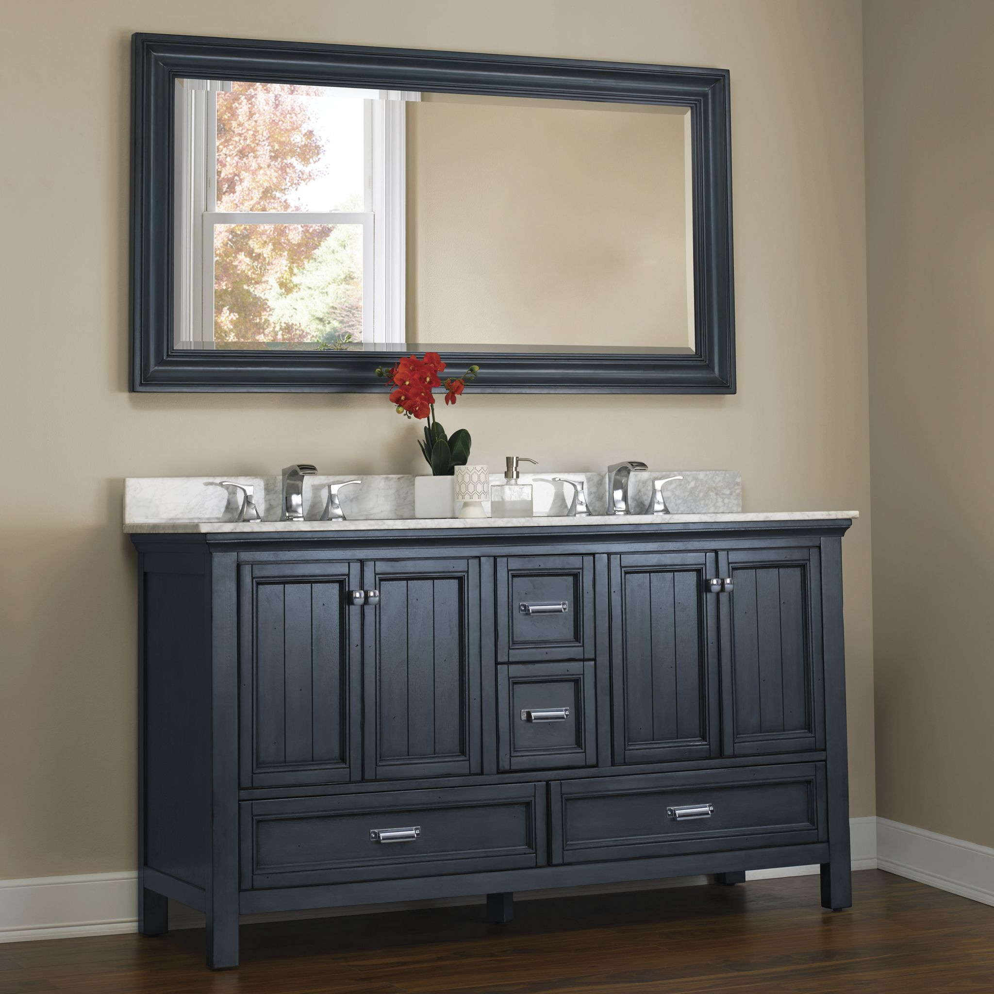 Foremost Brantley Cabinet In Harbor Blue Vanity Farmhouse Mirrors Apartment Bedroom Decor