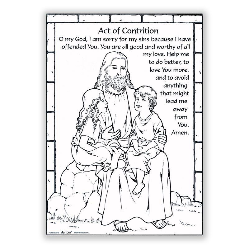 This is a picture of Sizzling Act of Contrition Prayer Printable