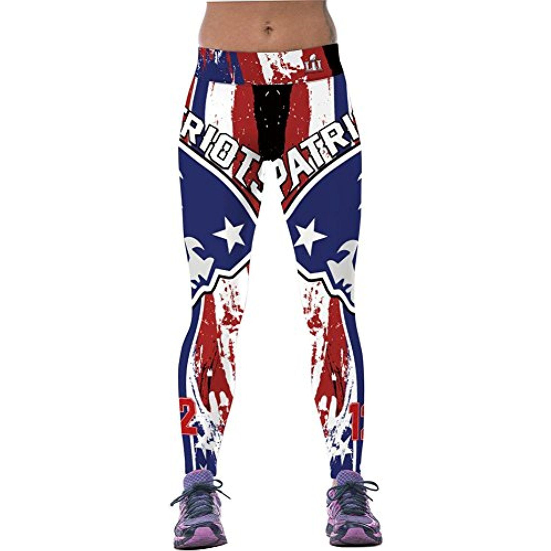 4ping Women S Patriot Digital Printing Sports Pants Elasticity Tight Fitness Pants Leggings O Fitness Leggings Women Sports Pants Women Women S Sports Leggings