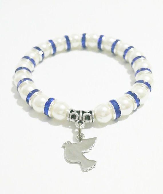 Dove Jewelry / Dove Charm Bracelet / Blue by VickysLittleSecrets, $10.50