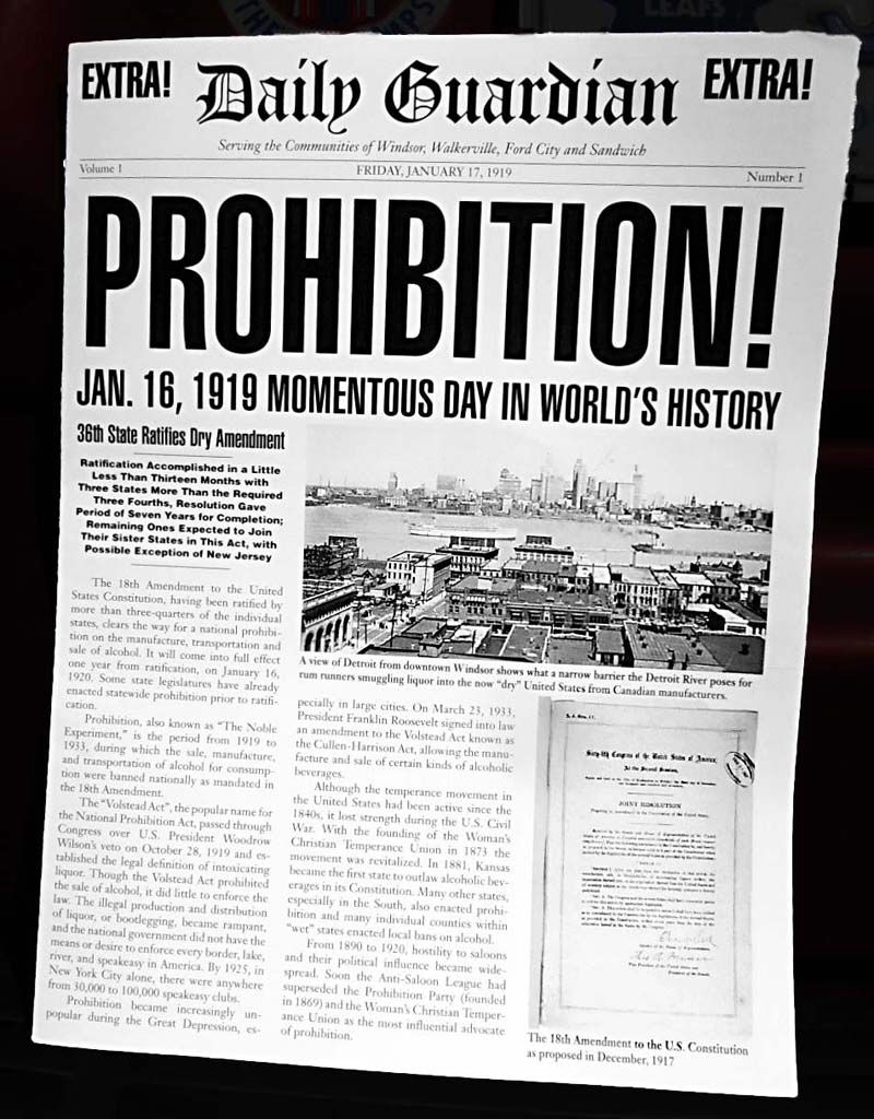 Prohibition Act Begins 1920s Newspapers Entry 5 Pinterest