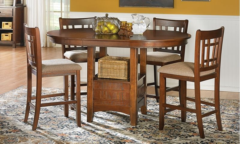 Mission Oak Counter Height Dining Set Counter Height Dining Sets Pub Table Sets Pub Table
