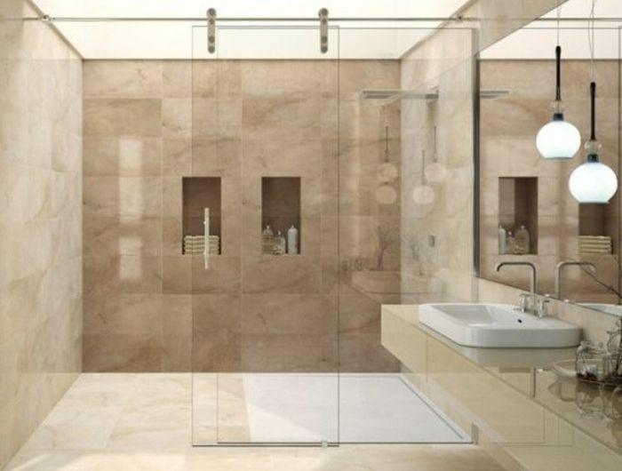 carrelage beige salle de bain beige