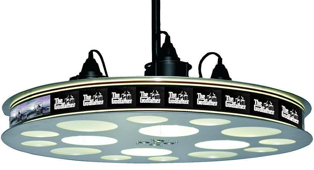 ceiling movie reel The Godfather Movie Reel Hanging LED Light Home