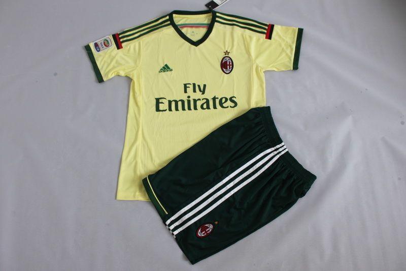 2014-2015 AC Milan Away Kid Soccer Uniform | Kids soccer ...