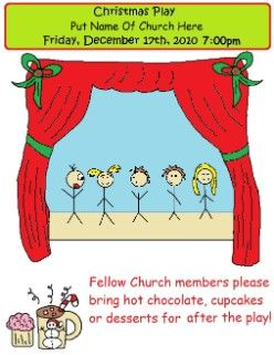 Free Printable Christmas Plays Church.Free Printable Christmas Play Invitations Invitations