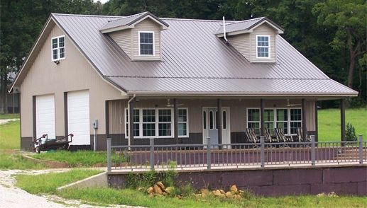 pole barn house - Metal Home Designs