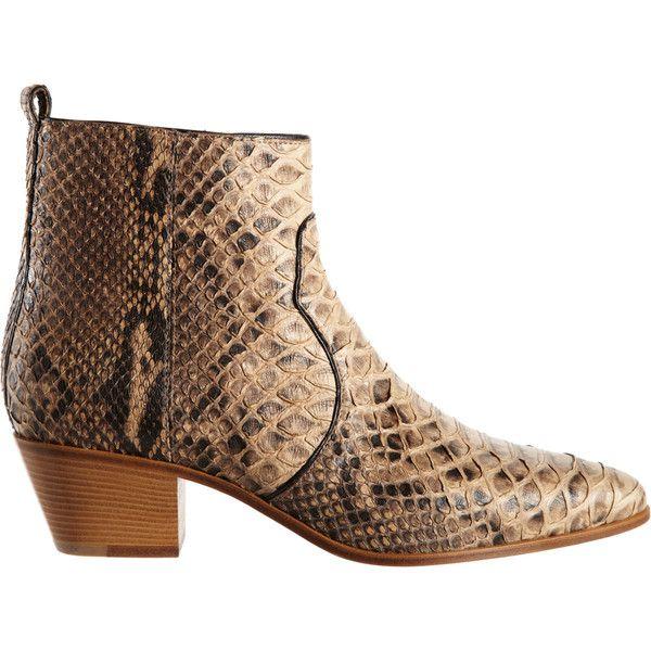 Saint Laurent Python Rock Ankle Boot