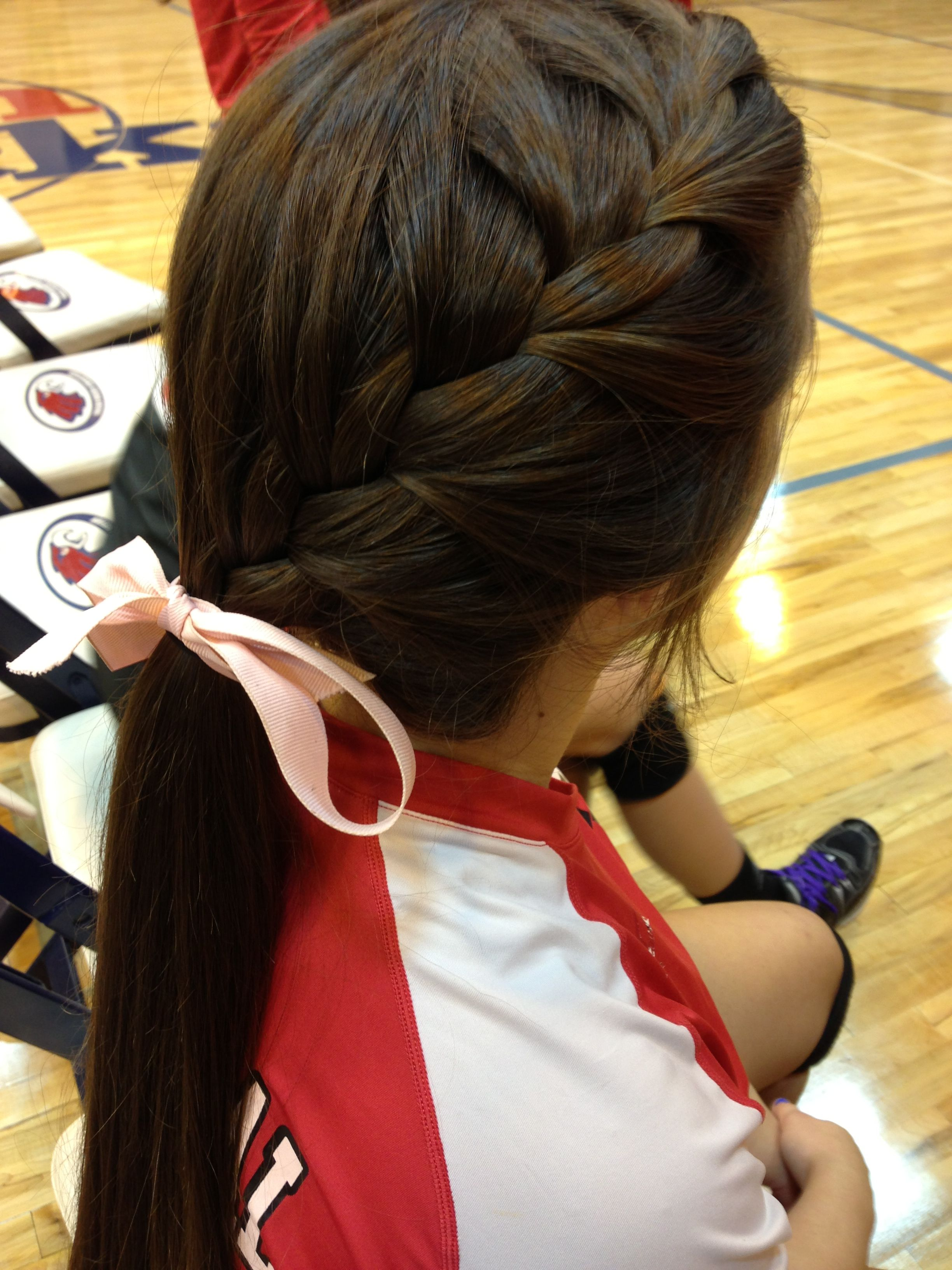 Volleyball Hair With Images Sporty Hairstyles Cheer Hair Volleyball Hairstyles
