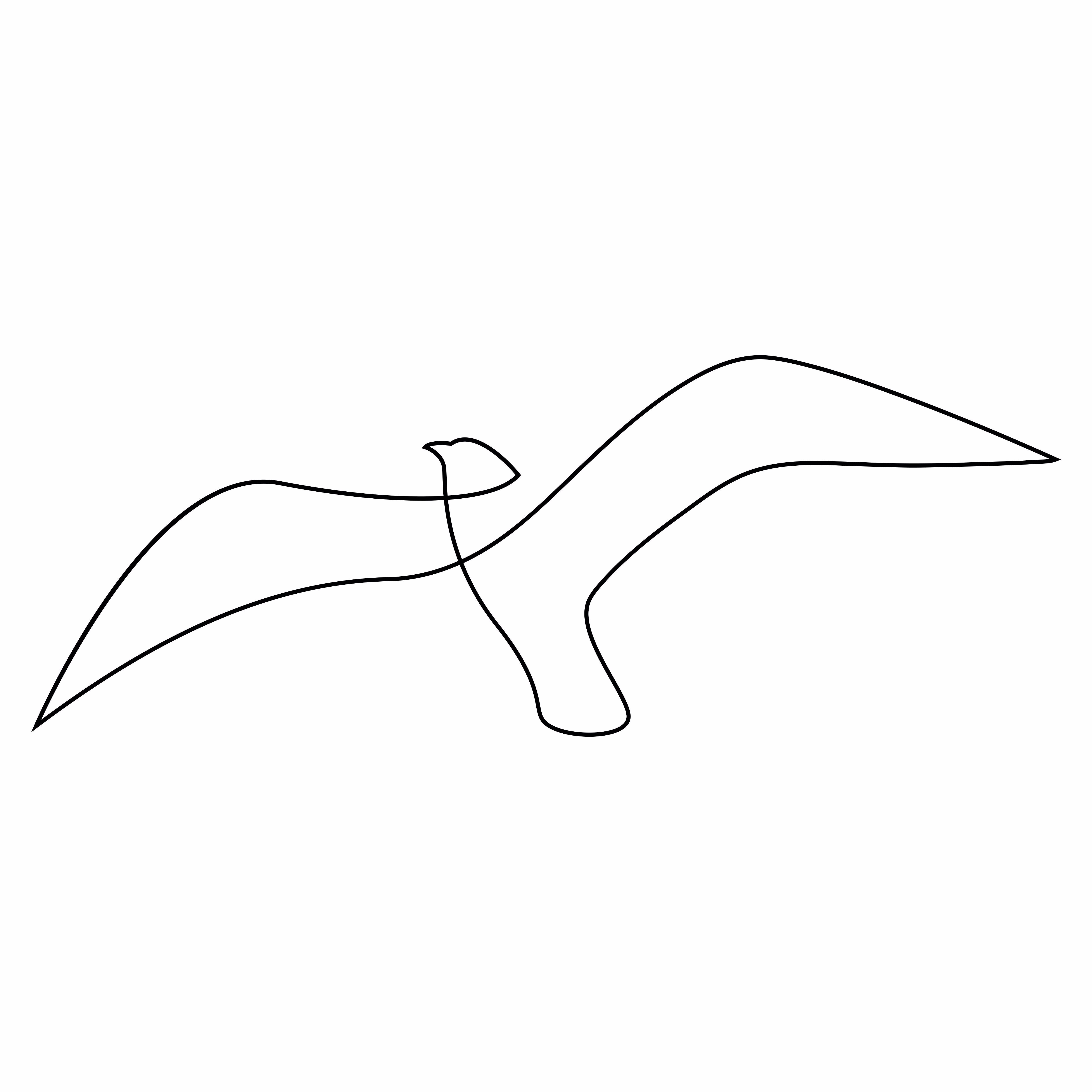 Single Line Drawing Of Seagull Great As Tattoo Sketch Line Drawing Tattoos Single Line Drawing Bird Line Drawing