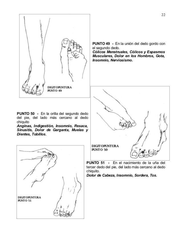 PUNTO 49 - En la unión del dedo gordo con el segundo dedo. Cólicos ...
