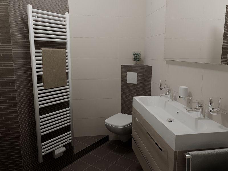 Kleine badkamer van cm met dubbel badkamermeubel