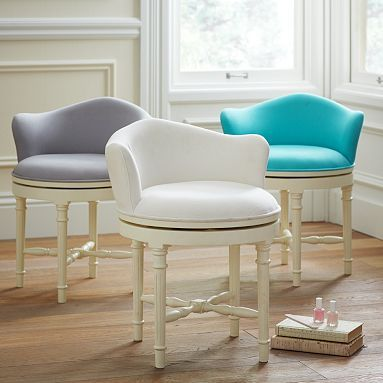 Modern Vanity Chair For Bathroom Decorating Ideas