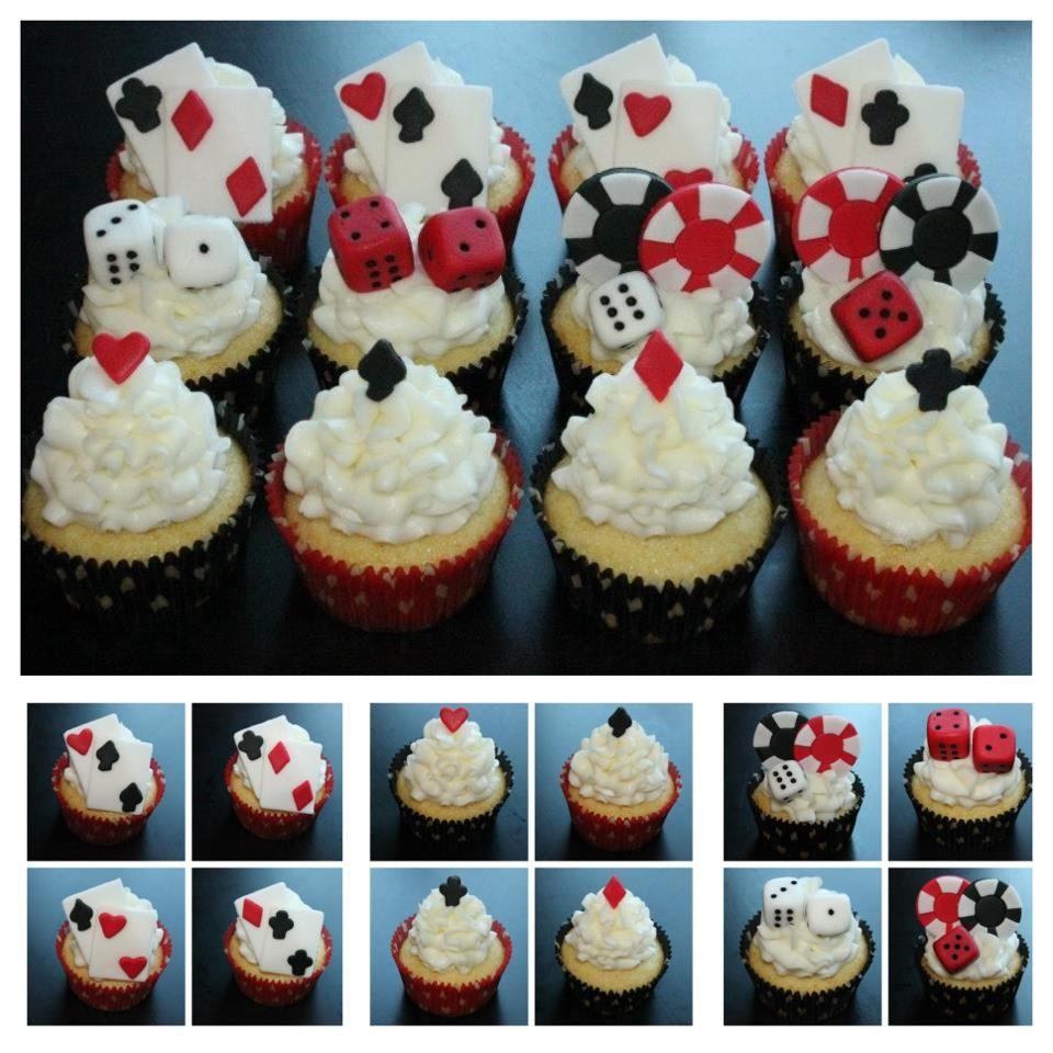Vegas Casino Dice Poker Themed Cupcakes http//www