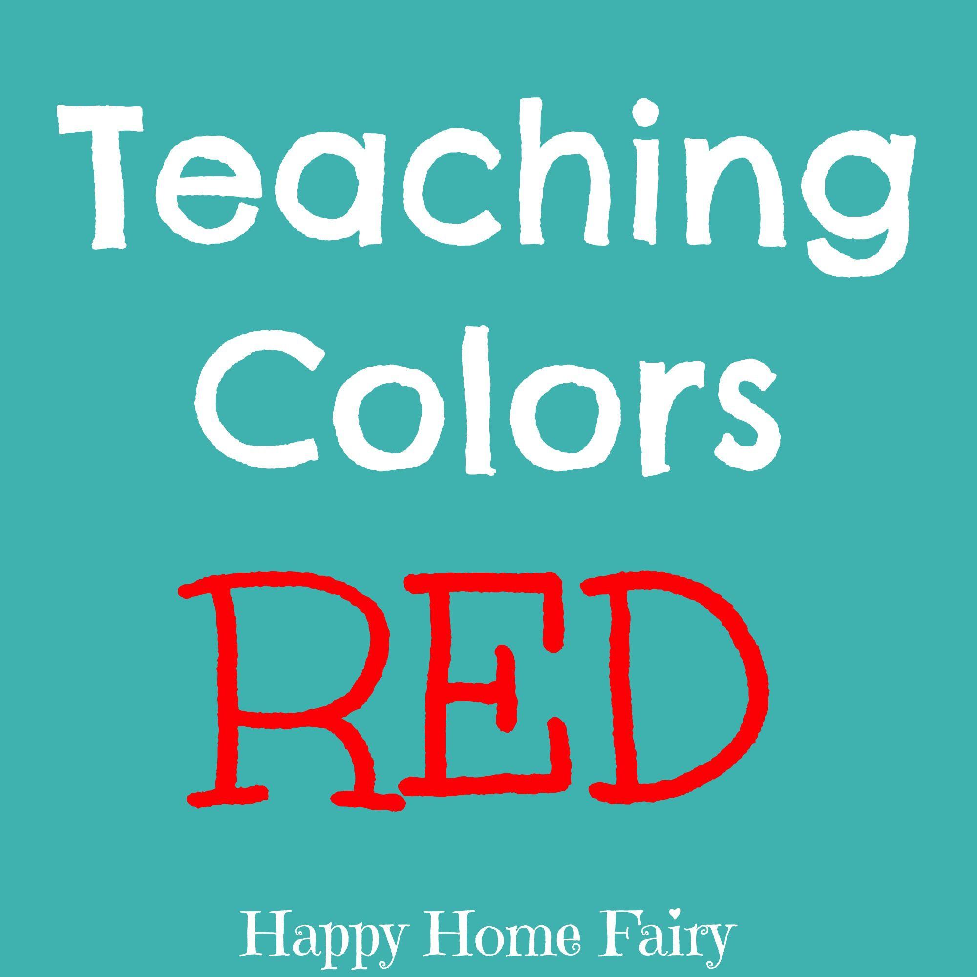 Teaching Colors - Red | Teaching Preschool | Pinterest | Teaching ...
