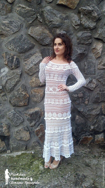 48d8846ff86 Купить Платье крючком длинное - платье длинное в пол