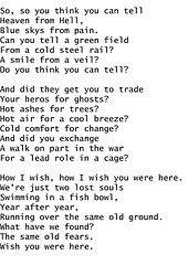 Lirik Wish You Were Here Pink Floyd : lirik, floyd, Floyd, Lyrics, Lyrics,