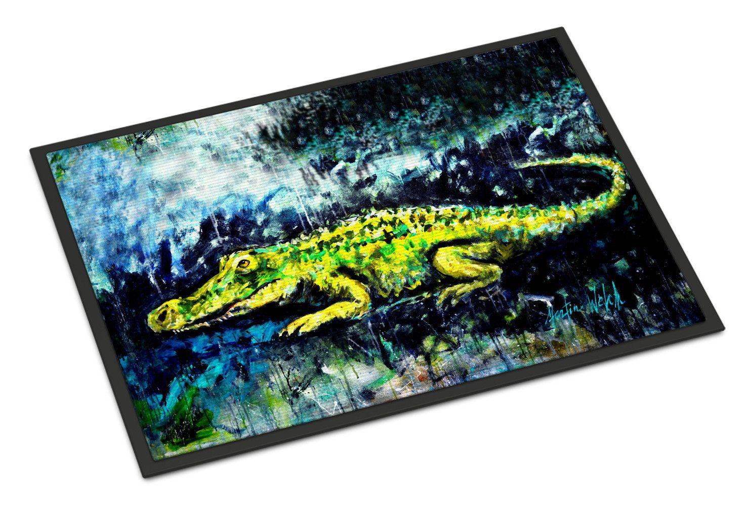 Sneaky Alligator Doormat