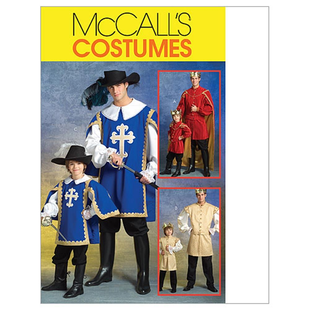 McCall's Men's/Children's/Boys' Musketeer and Prince Costumes Pattern M5214 Size KID #mamp;mcostumediy