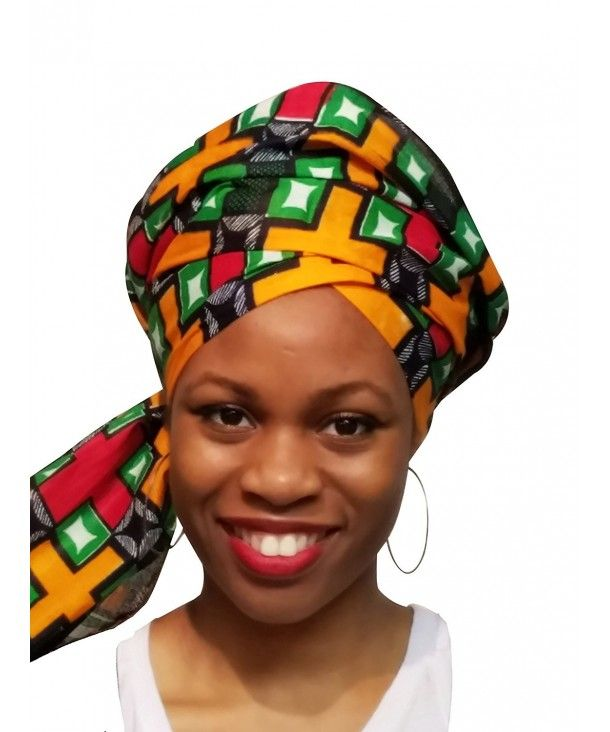 Orange-Green- Red African Print Ankara Head wrap- Multicolor Tie- scarf- One Size CX12OI6M6J4 #afrikanischerdruck