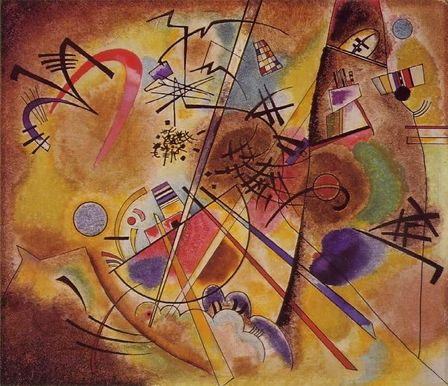 Kandinsky S Little Dream In Red Musical Painting Wassily