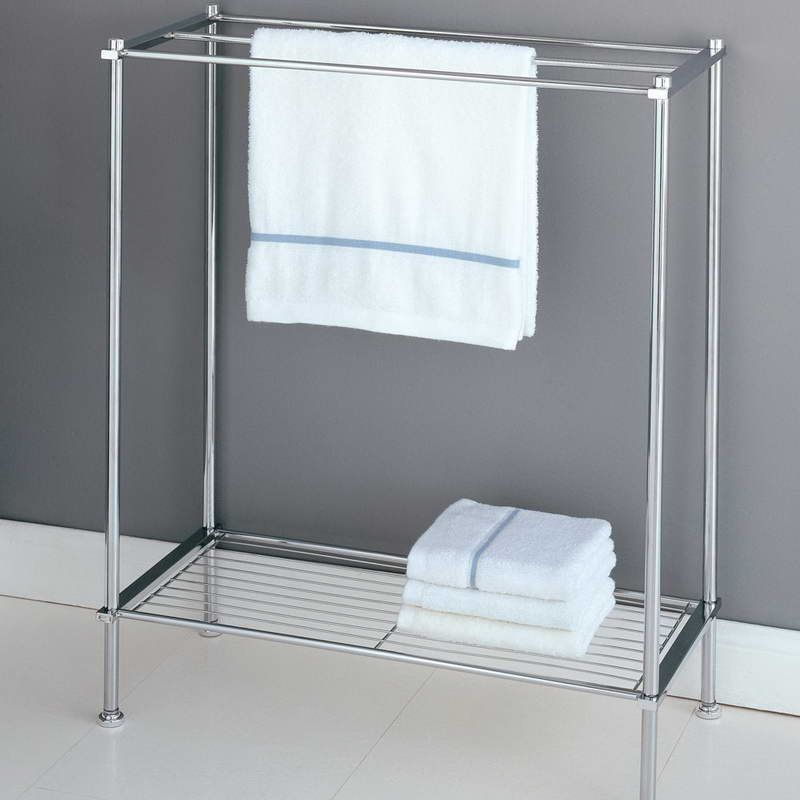 Free Standing Towel Rack With Shelf Iron Apt In 2018 Pinterest