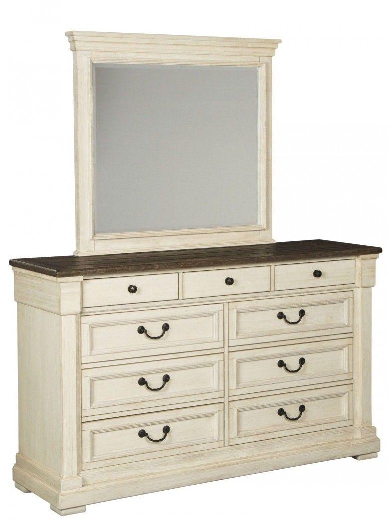 Best Bolanburg Two Tone Dresser White Paneling Two Tone 400 x 300