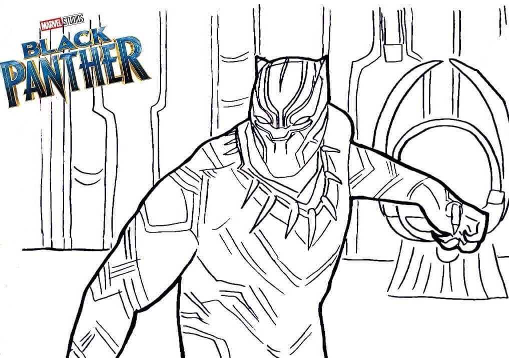 Coloriage Black Panther A Imprimer Gratuit.Marvel Black Panther Coloring Pages In 2019 Superhero