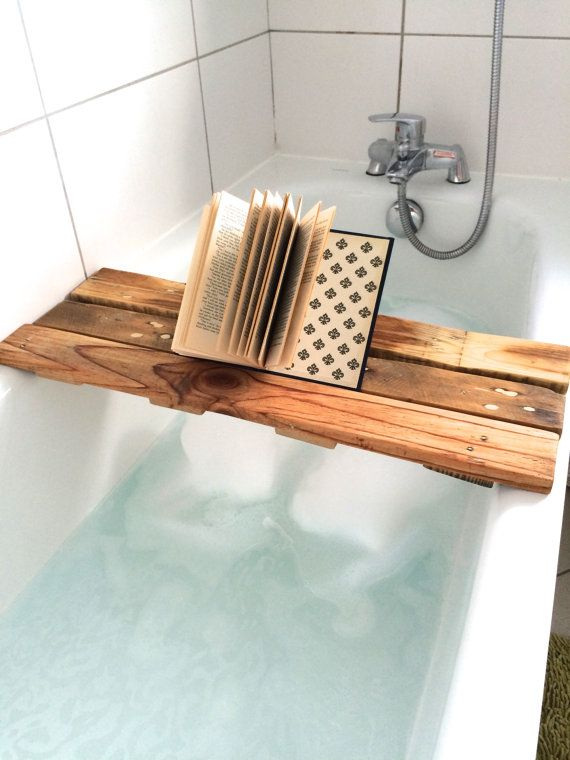 Wooden Bath Tray Shelf Caddy | Bath caddy, Bath and Trays