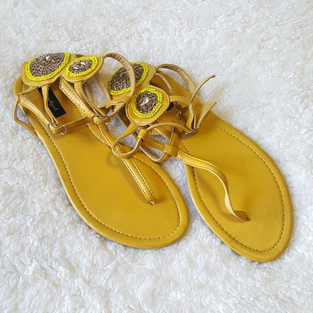 Sound Girl Women's Size 9 Yellow Ankle