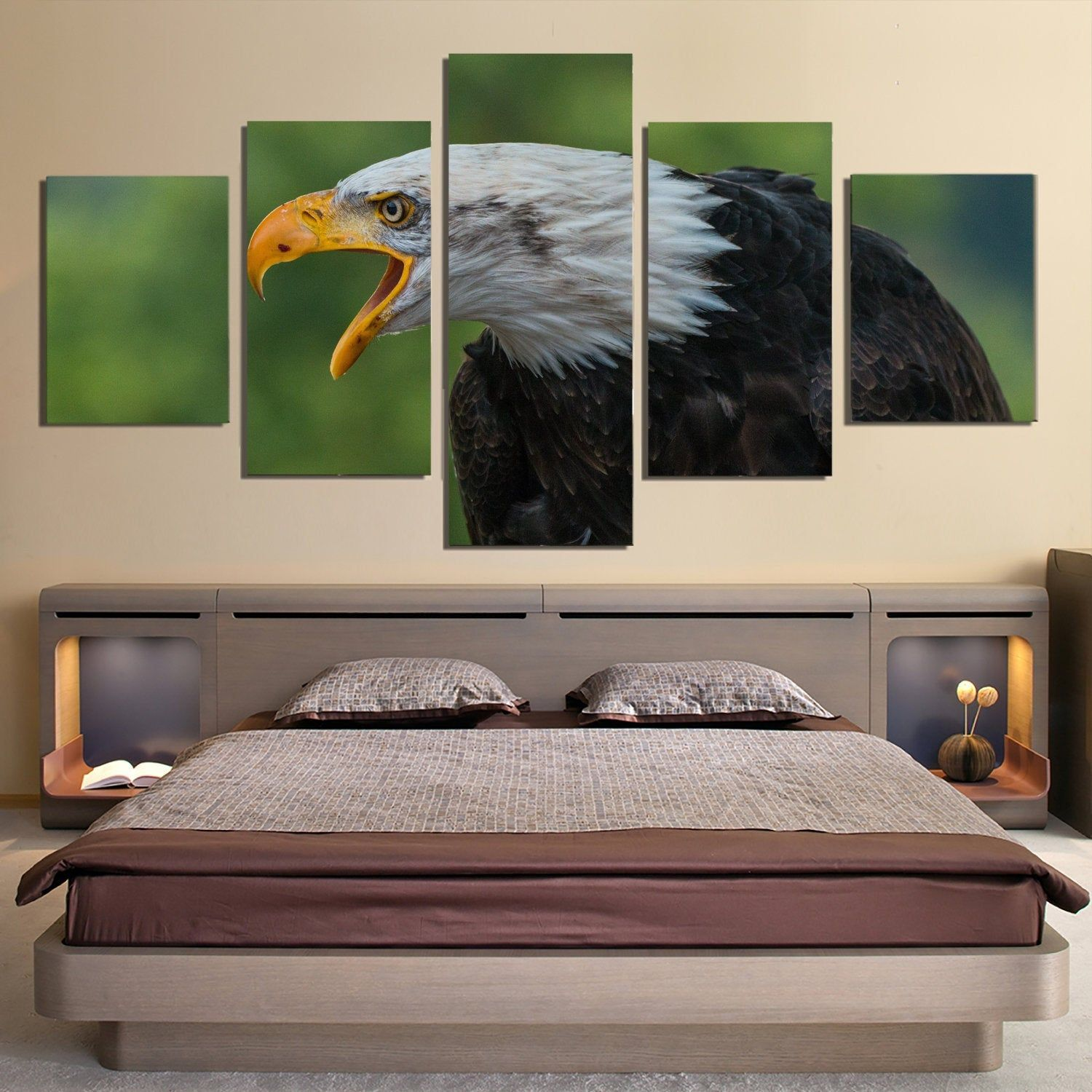 5 Piece Eagle Canvas Wall Art Image Picture Of Eagles Wallpaper