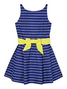 RALPH LAUREN Fit & flare striped dress 7-16 years