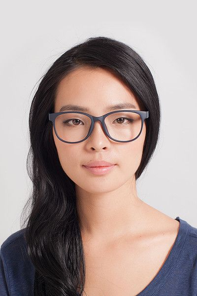 ecdc6aa7d3 Warren Matte Navy Plastic Eyeglasses from EyeBuyDirect. A fashionable frame  with great quality and an affordable price. Come see to discover your style.