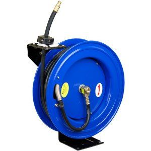 Cyclone Pneumatic 3 8 Inch X 50 Ft Retractable Air Hose Reel Air Hose Reel Air Compressor Hose Reel Hose Reel