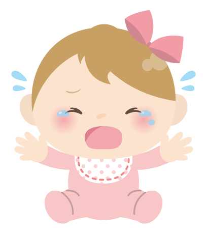 """2-no llorar a los bebés Gracioso Pegatina Calcomanía 4/"""""""