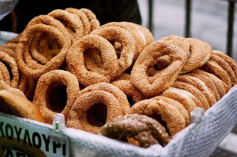 Thessaloniki Koulouri: a street food, round shaped bread ...