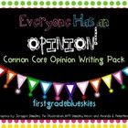 This pack is perfect if you want to infuse opinion writing step by step into your teaching all year long.  It addresses Common Core Standards: WK.1...