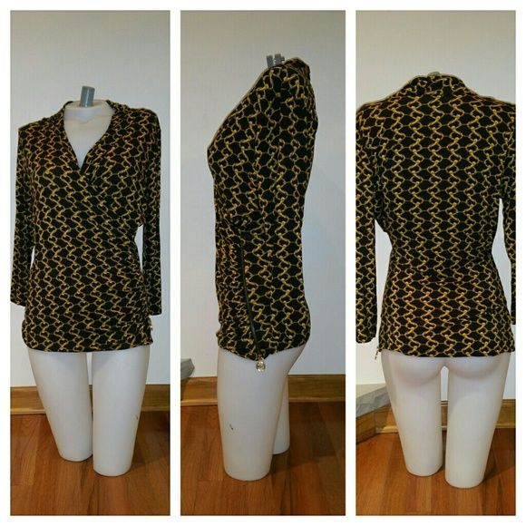 Michael Kors Dress Shirt Great condition  Size medium Side zipper  95% Rayon 5% Spandex Michael Kors Tops